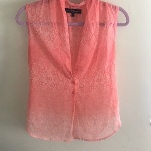 Pink sheer blouse